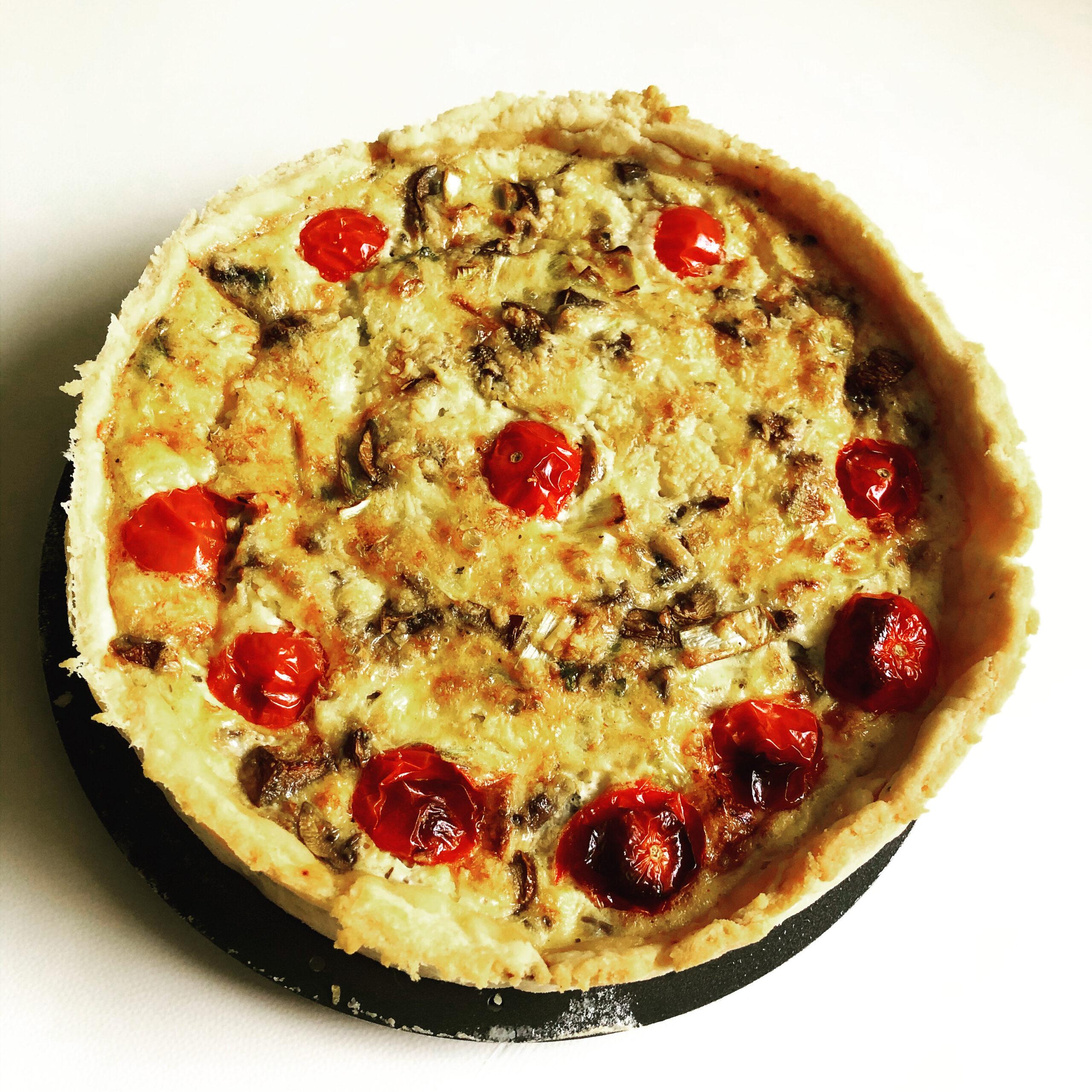 British Pie Week - dairy free, gluten free quiche. Did you know a quiche is a pie
