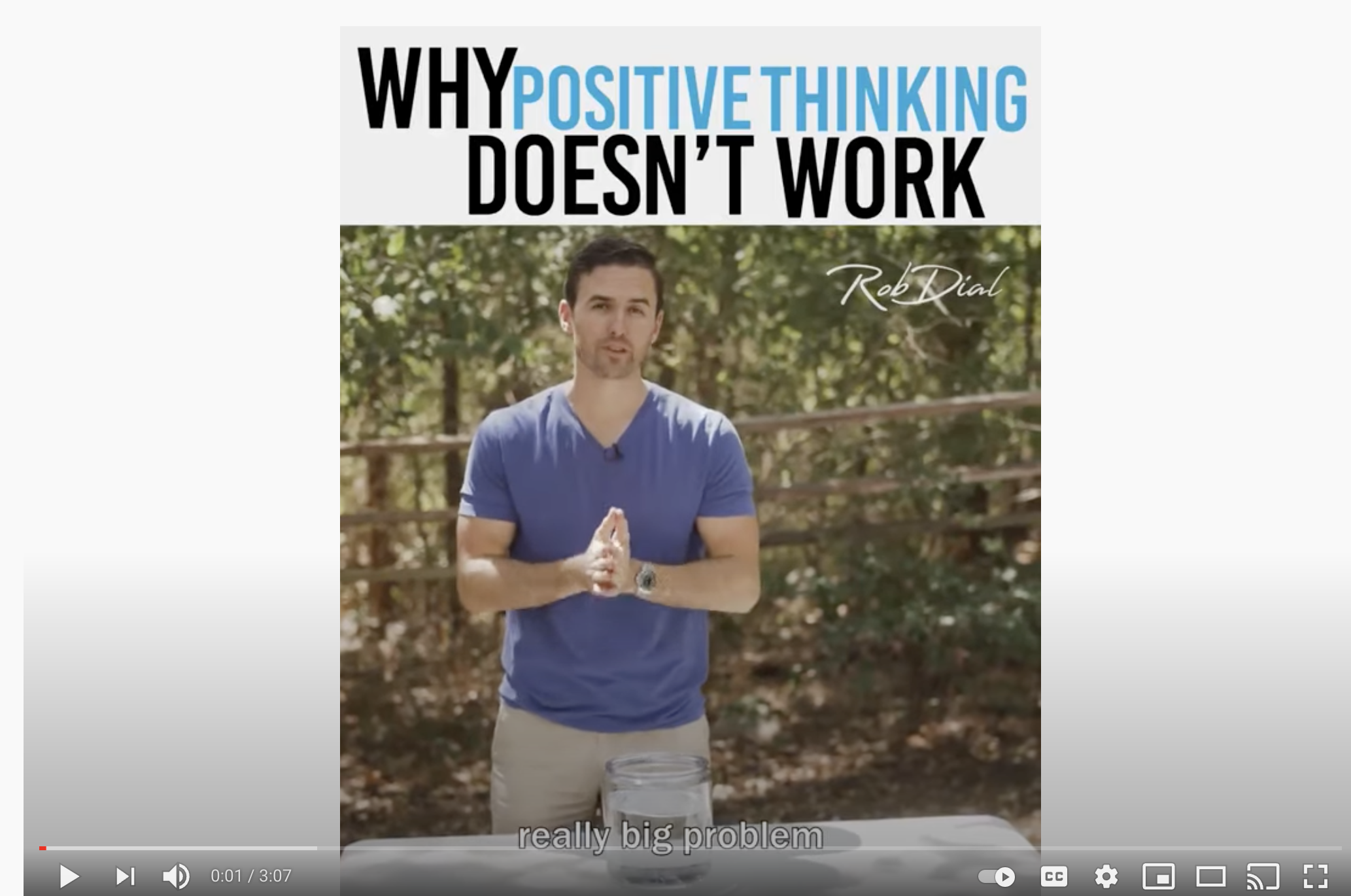 Why positive thinking doesn't work
