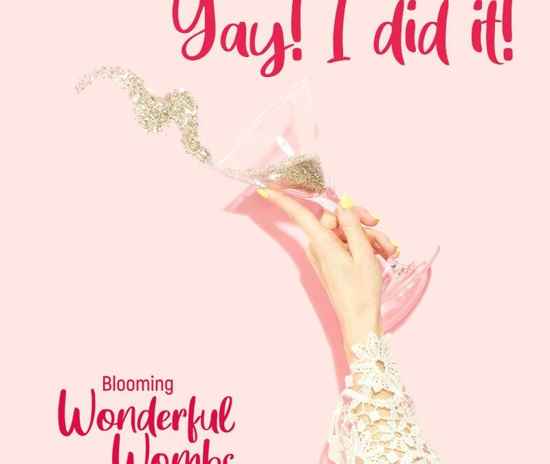Yay – the endometrial thickening shrank by half after three months of diet change and no xenoestrogens